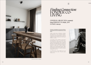 Preview of article in Koti on Fonder co-living